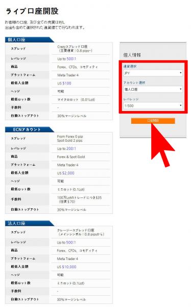 LAND-FX口座開設手順002