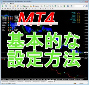 MT4基本的な設定方法